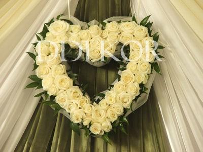 Háttér élővirág rózsa szív