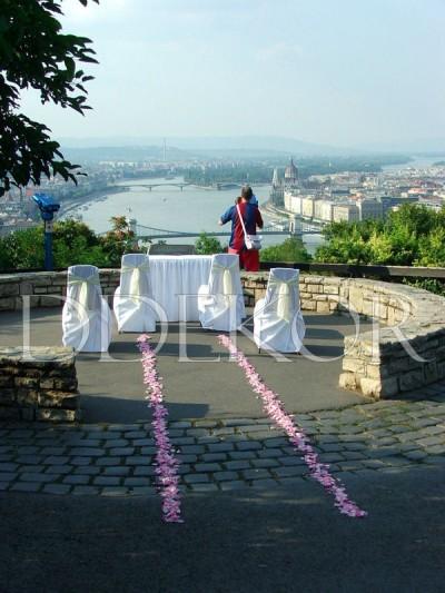 Citadella szabadtéri ceremónia csodálatos kilátással