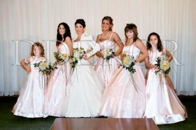 Menyasszonyi és koszorúslány csokor