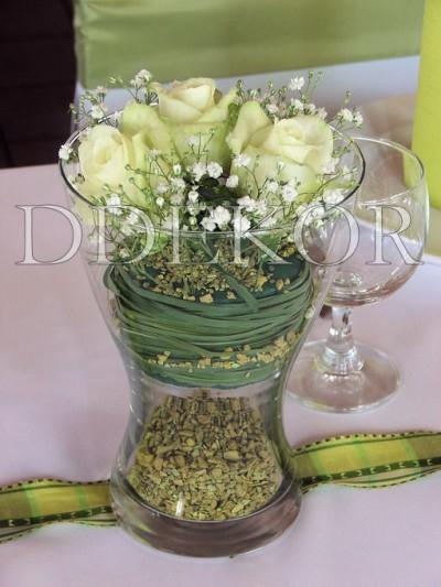 Rózsás asztaldísz 2