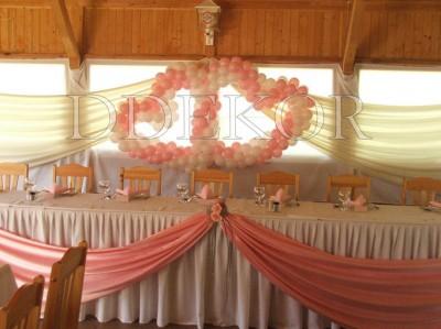 Rózsaszín léggömb dekoráció