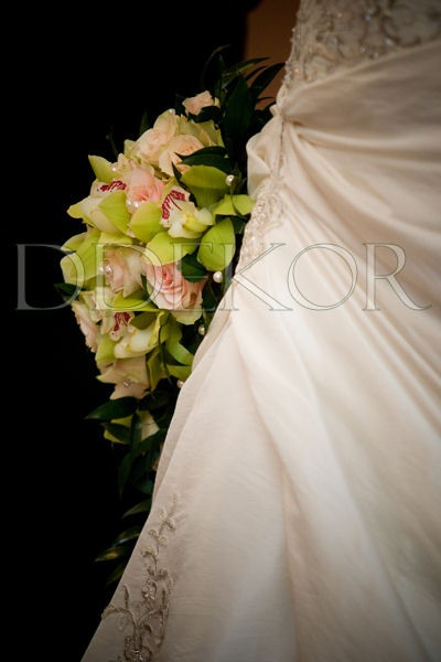 Rózsaszín rózsa, orchidea